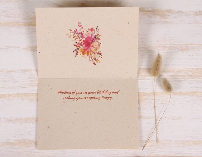 Birthday Card - Bouquet - Inside