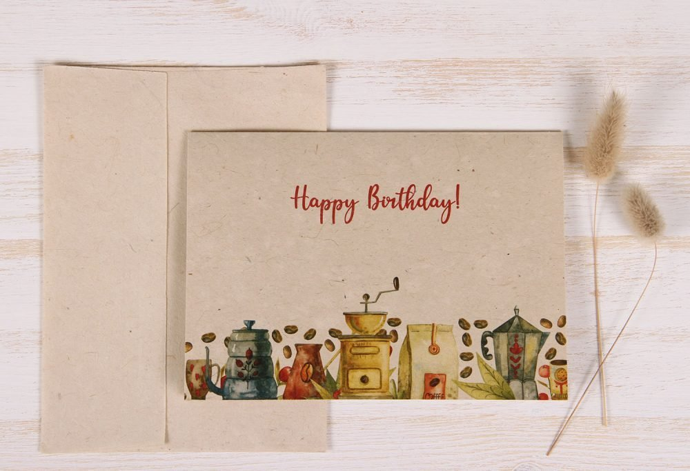 Birthday Card - Coffee - Front