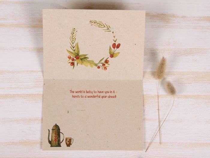 Birthday Card - Coffee - Inside