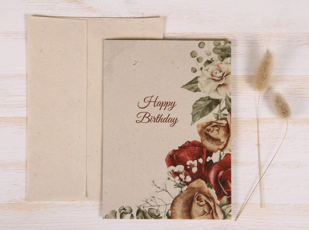 Birthday Card - Copper Rose - Front