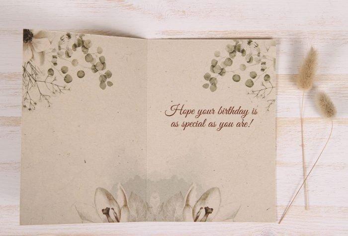 Birthday Card - Copper Rose - Inside