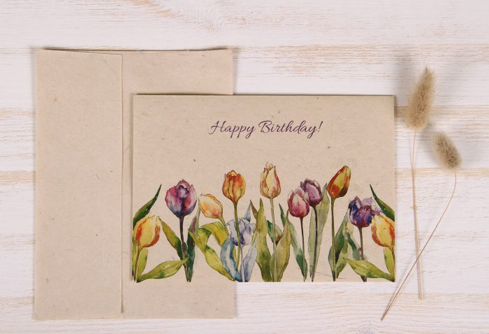 Birthday Card - Tulips - Front
