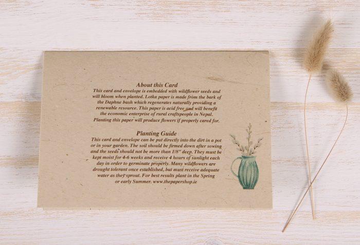 Easter Card - Wreath - Back