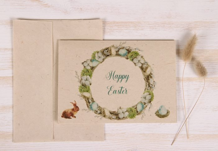 Easter Card - Wreath - Front