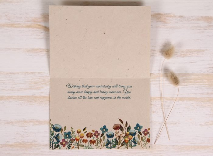 Plantable Anniversary Card - Meadow - Inside