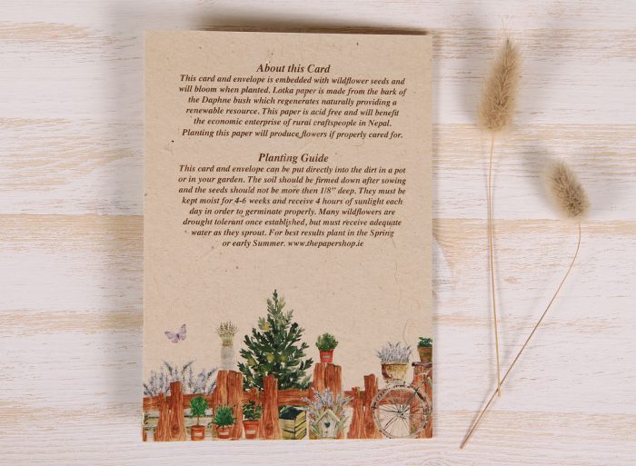 Plantable Birthday Card for Father - Gardener - Back