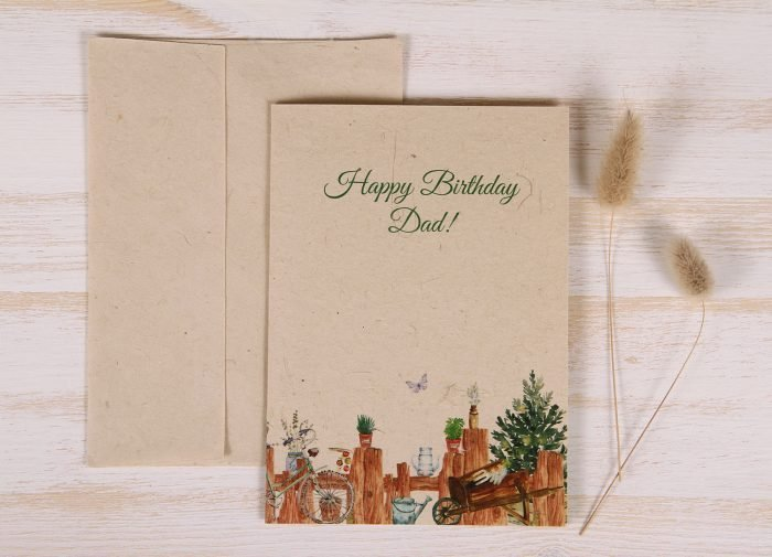 Plantable Birthday Card for Father - Gardener - Front