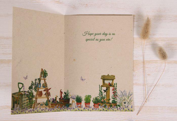Plantable Birthday Card for Father - Gardener - Inside