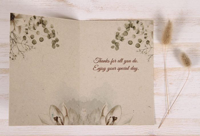 Plantable Birthday Card for Mother - Copper Rose - Inside