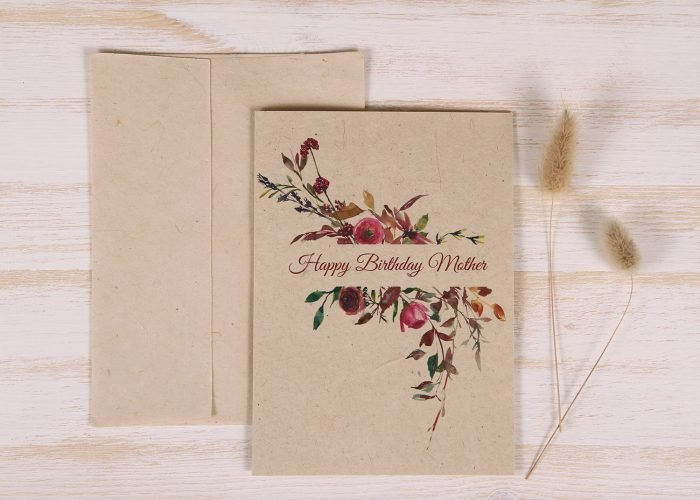 Plantable Birthday Card for Mother - Flowers & Twigs - Front