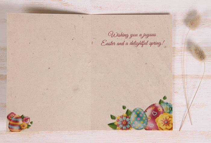 Plantable Easter Card - Vibrant Eggs - Inside