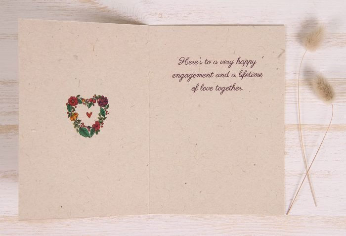 Plantable Engagement Card - Floral Heart - Inside