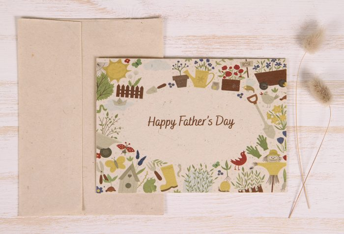 Plantable Father's Day Card - Garden Border - Front
