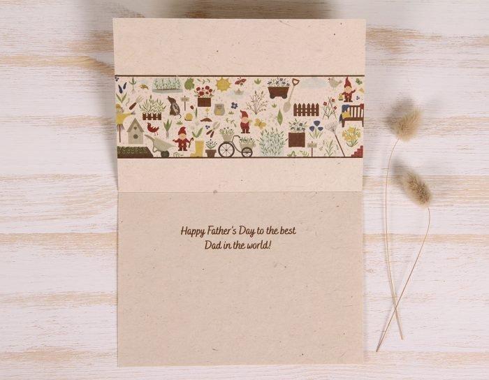 Plantable Father's Day Card - Garden Border - Inside