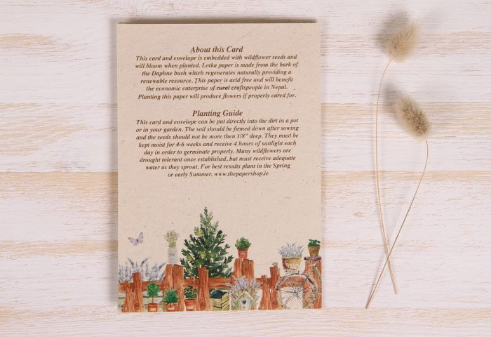Plantable Father's Day Card - Gardener - Back