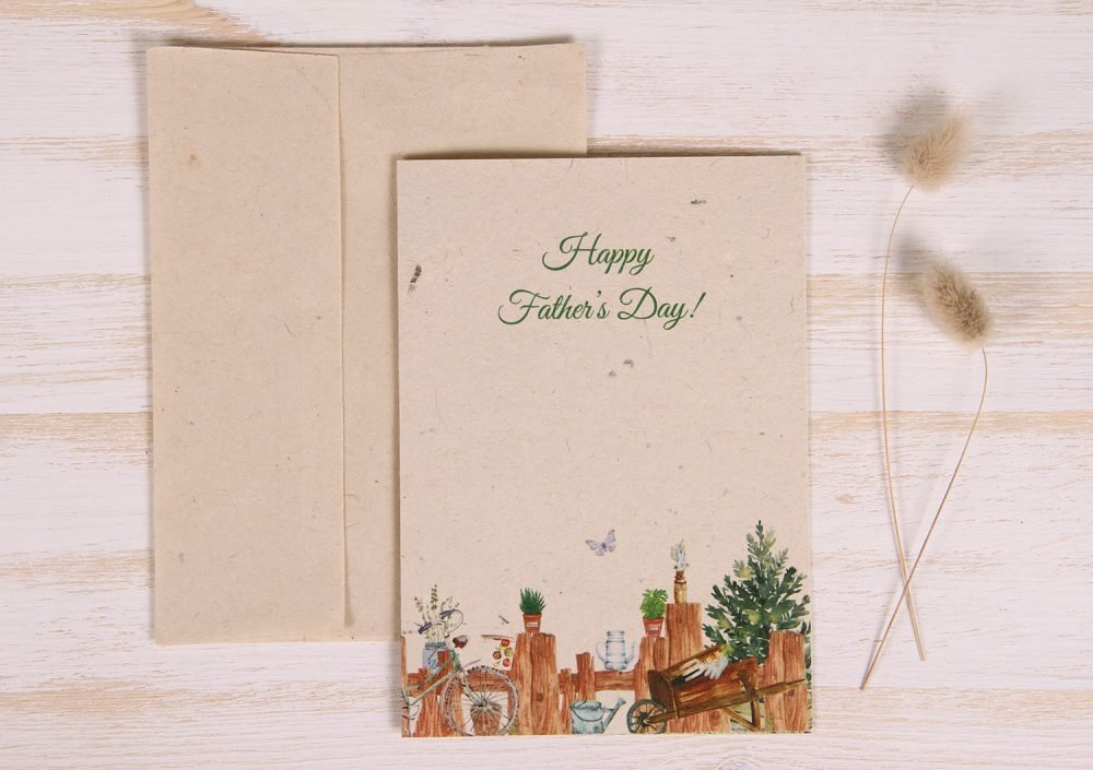 Plantable Father's Day Card - Gardener - Front