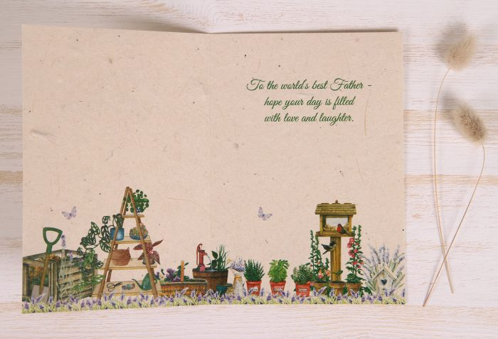 Plantable Fathers Day Card - Gardener - Inside