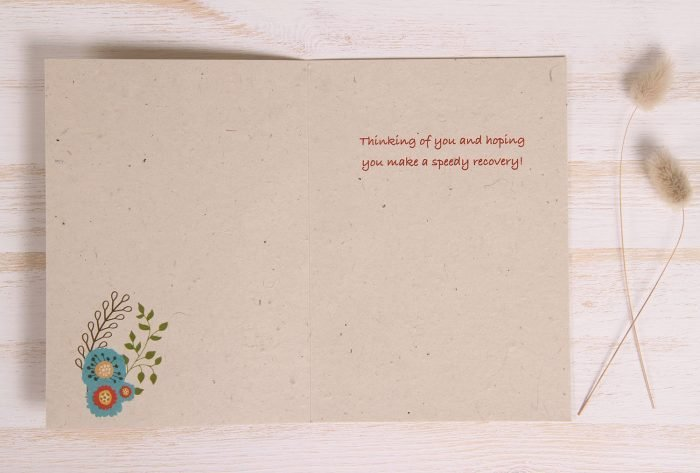 Plantable Get Well Soon Card - Spring Flowers - Inside