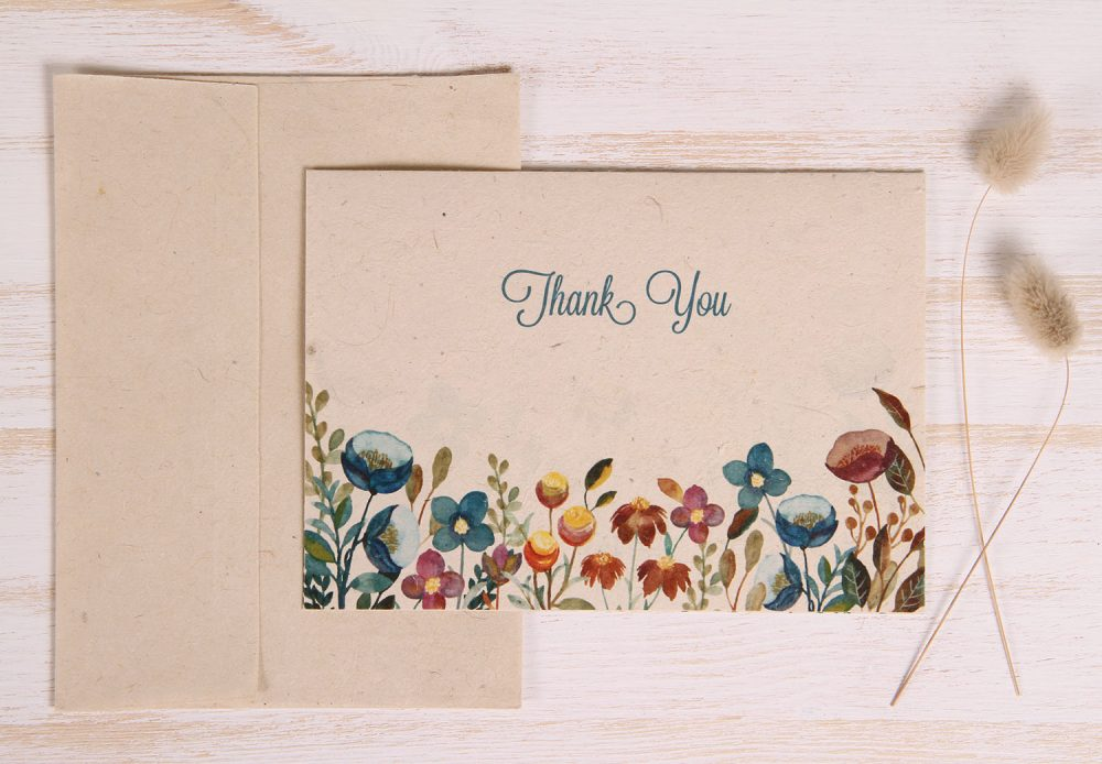 Plantable Thank You Card - Meadow - Front