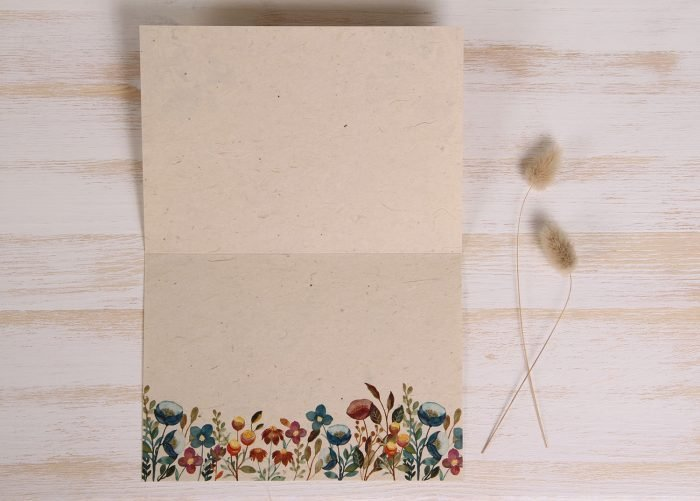 Plantable Thank You Card - Meadow - Inside
