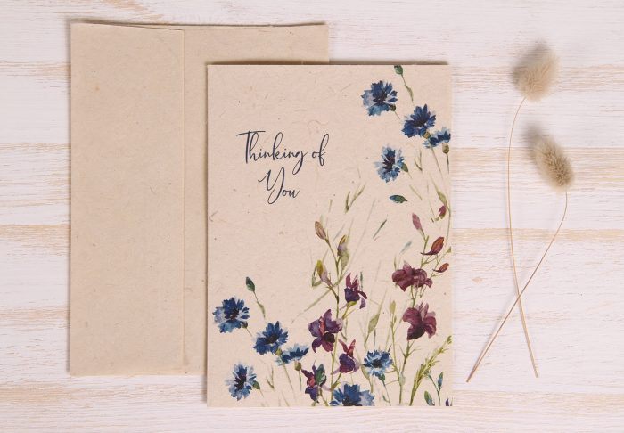 Plantable Thinking of You Card - Wildflowers - Front