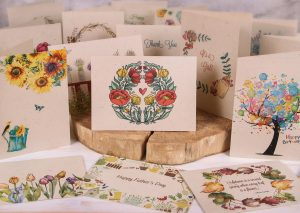 Still Life - Plantable Greeting Cards Blank art deco on wood