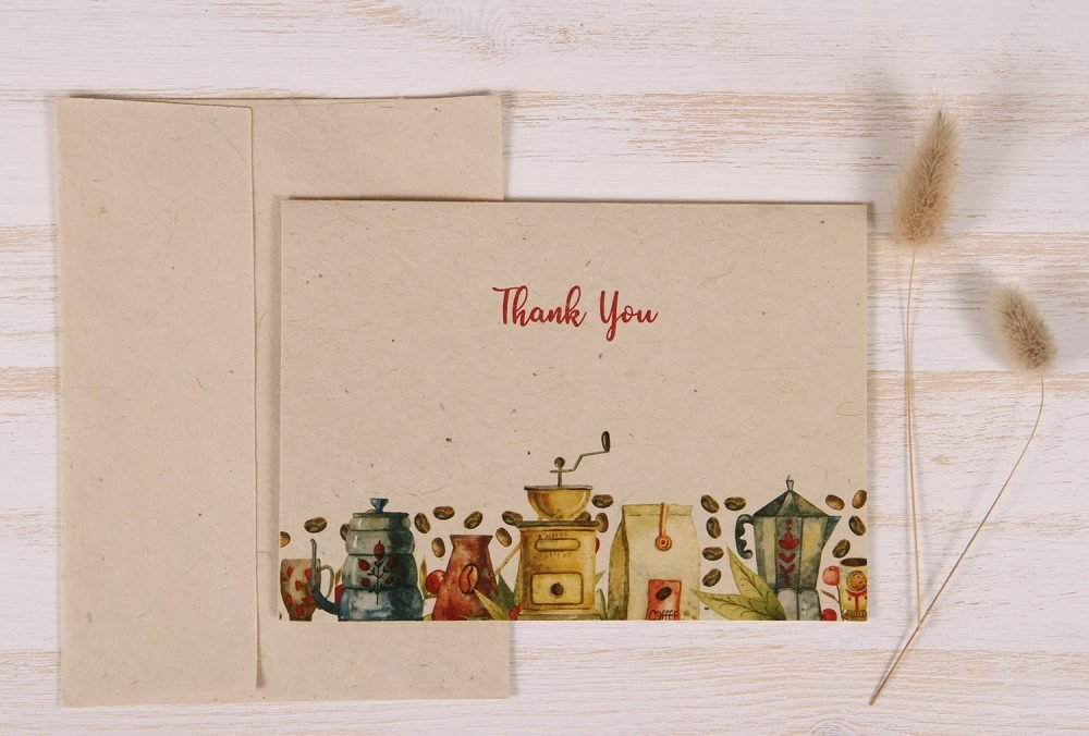 Thank You Card - Coffee - Front