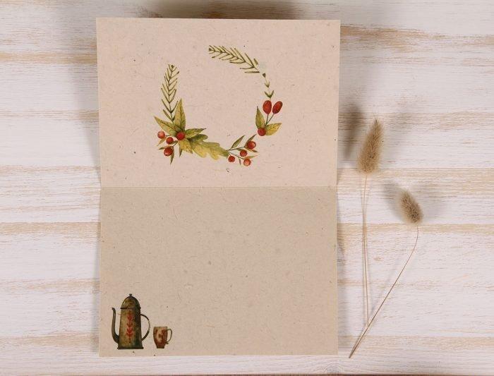Thank You Card - Coffee - Inside