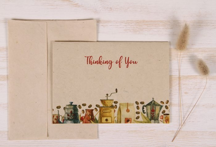Thinking of You Card - Coffee - Front