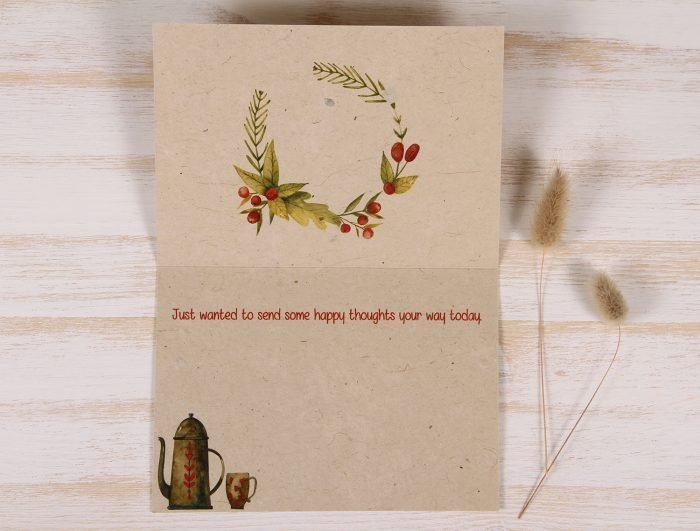 Thinking of You Card - Coffee - Inside