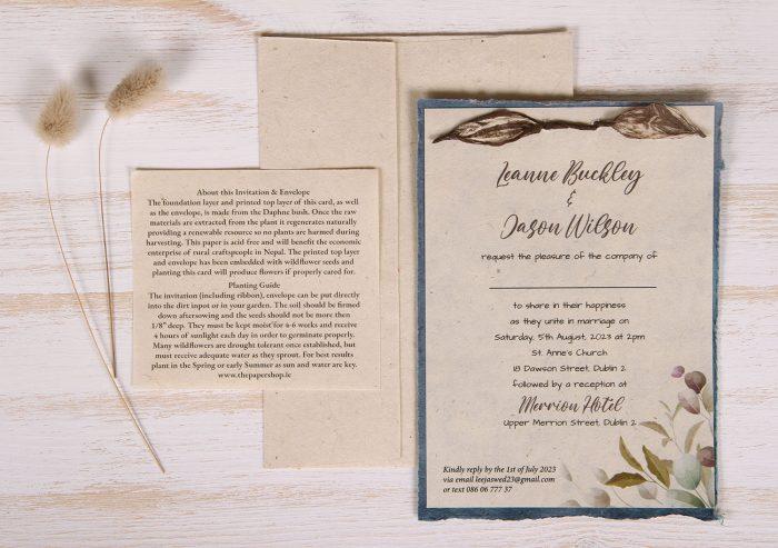 Lotka - Blue - Dual Layer Plantable Invitation (design_Colourful_Eucalyptus)