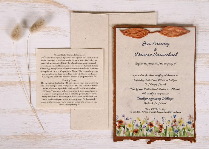 Lotka - Russet - Dual Layer Plantable Invitation (design_Summer_Meadow)