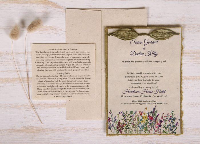 Lotka - Sage - Dual Layer Plantable Invitation (design_Widflower_Meadow)
