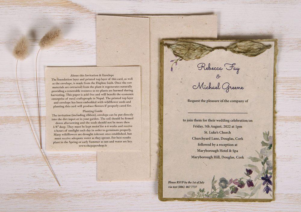 Lotka - Sage - Dual Layer Plantable Invitation (design_Wildflower)