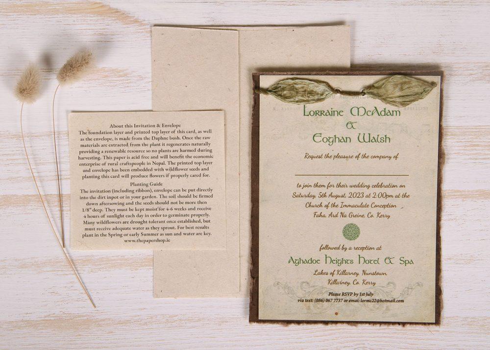 Lotka - Umber - Dual Layer Plantable Invitation (design_Celtic)