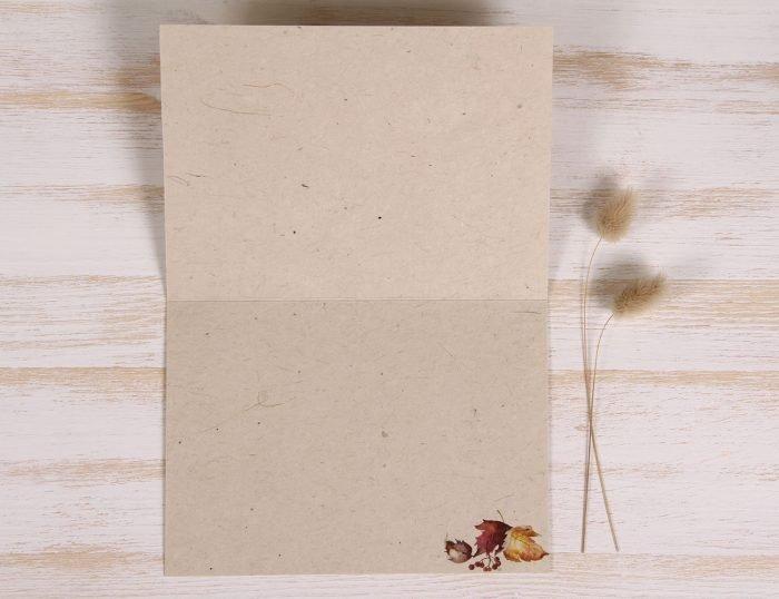 Plantable Autumn Card - Leaves - inside
