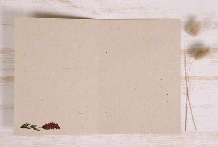 Plantable Autumn Card - Natural Wreath - Inside