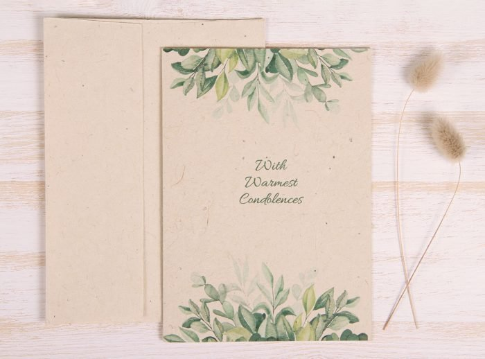 Plantable Condolence Card - Nature - Front