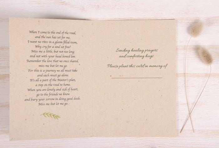 Plantable Condolence Card - Nature - Inside