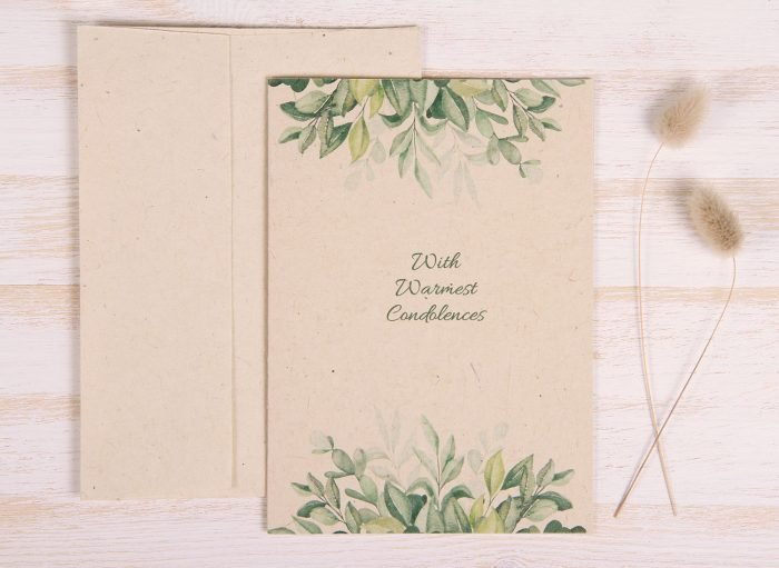 Plantable Condolence Card for Father - Nature - Front