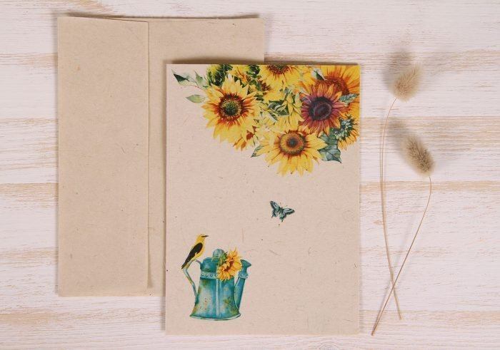 Plantable Greeting Card - Any Occasion - Sunflowers - Front
