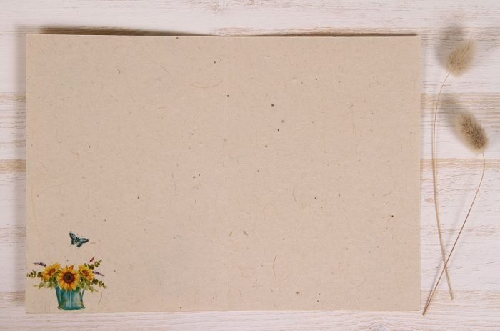 Plantable Greeting Card - Any Occasion - Sunflowers - Inside