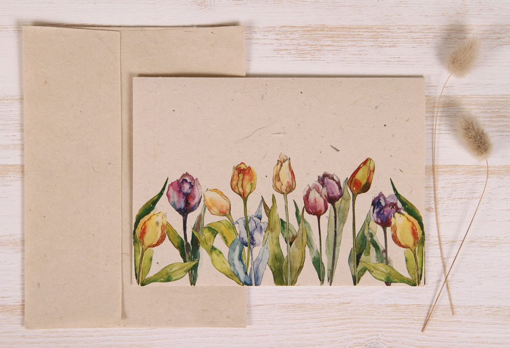 Plantable Greeting Card - Any Occasion - Tulips - Front