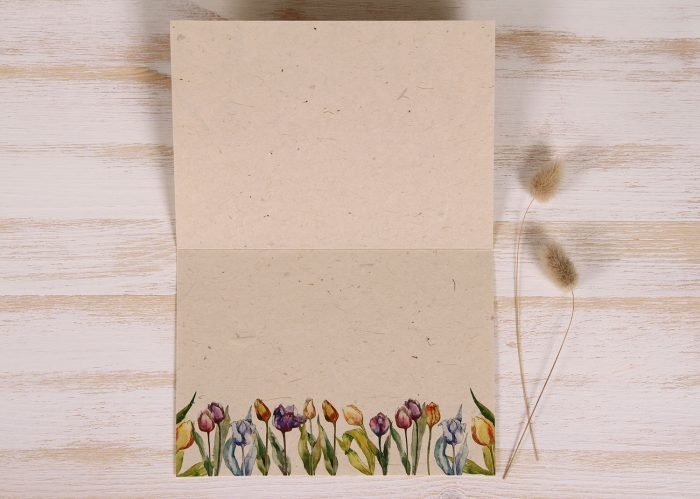 Plantable Greeting Card - Any Occasion - Tulips - Inside