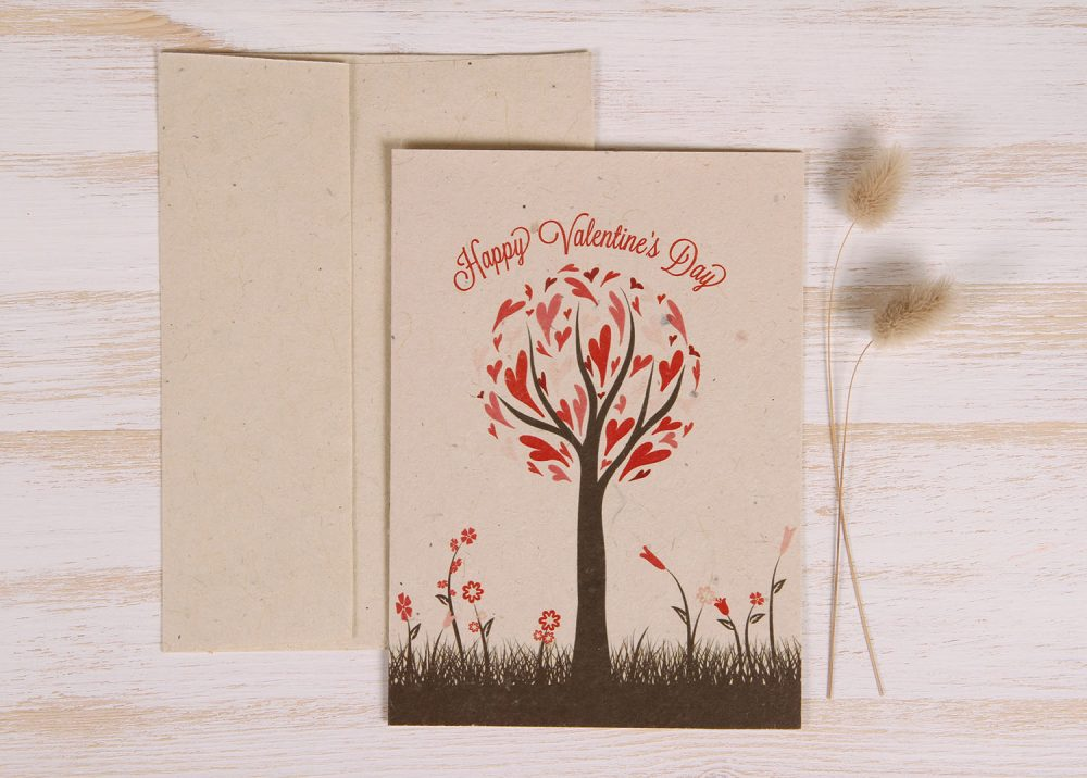 Plantable Greeting Card - Heart Tree - Front
