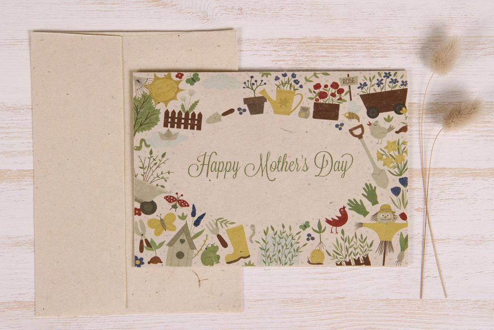 Plantable Mother's Day Card - Garden Border - Front