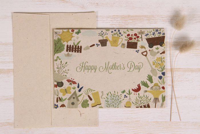 Plantable Mother's Day Card - Garden Border - Front