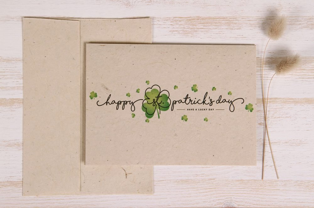 Plantable St. Patrick's Day Card - Luck - Front