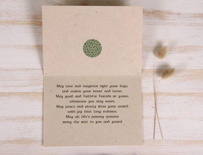 Plantable St. Patrick's Day Card - Shamrock - Inside