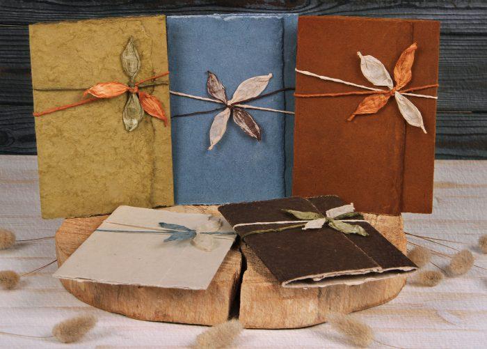 Lotka Wrap Invitations with Leaf Ties
